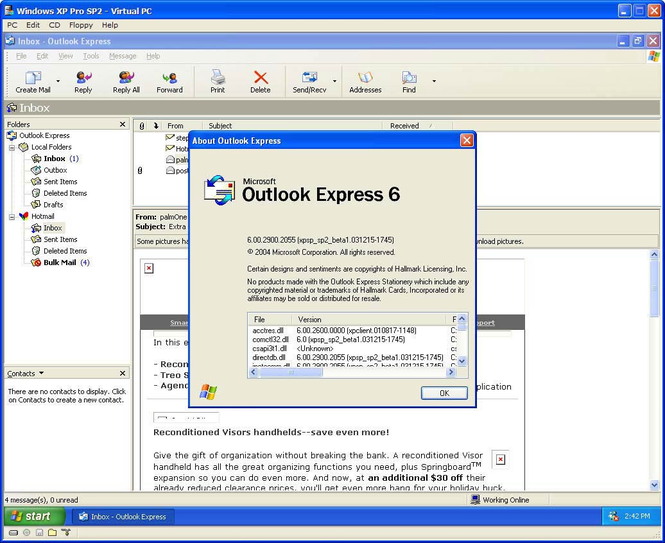 Outlook Express 6.0 (Final) - Download.dk